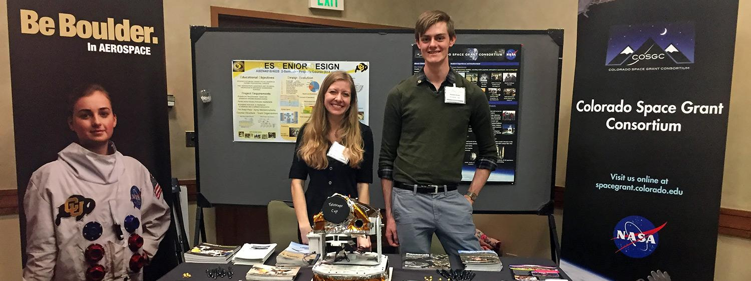Colorado Space Grant students Dawson Beatty and Virginia Nystrom