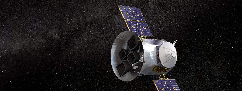 NASA's Transiting Exoplanet Survey Satellite (TESS). (Credit: NASA's Goddard Space Flight Center)