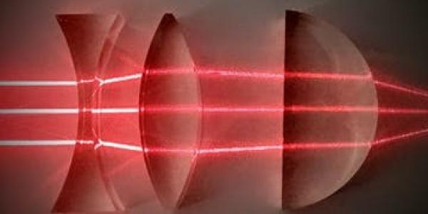 Imaging showing how light passes through optics