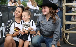 Forever Buffs in CU gear at an event