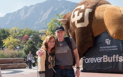 Two Forever Buffs at an Alumni Association Event