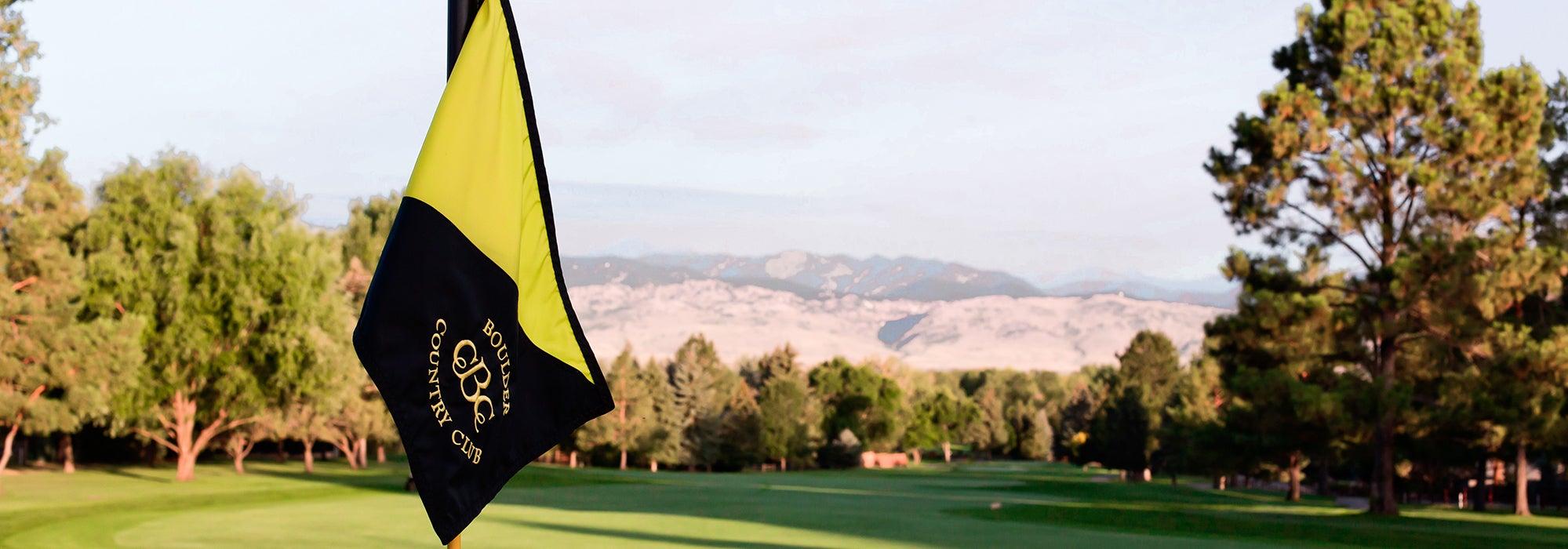flag on Boulder golf course