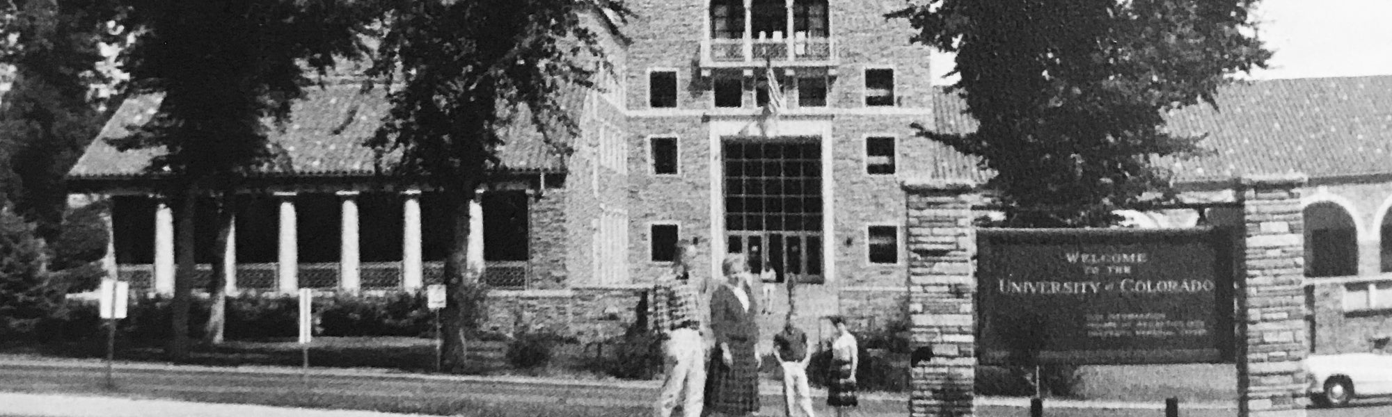 historical photos of students on CU Boulder campus