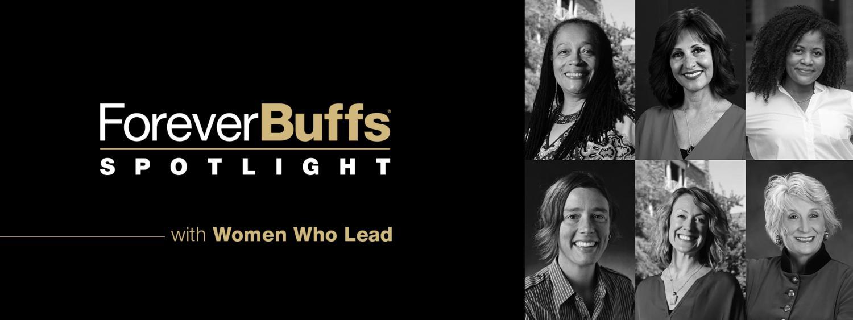 """Women Who Lead"""" in gold"""