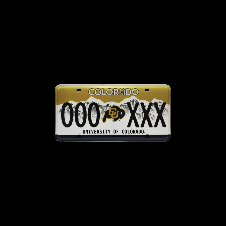 CU Boulder Colorado license plate