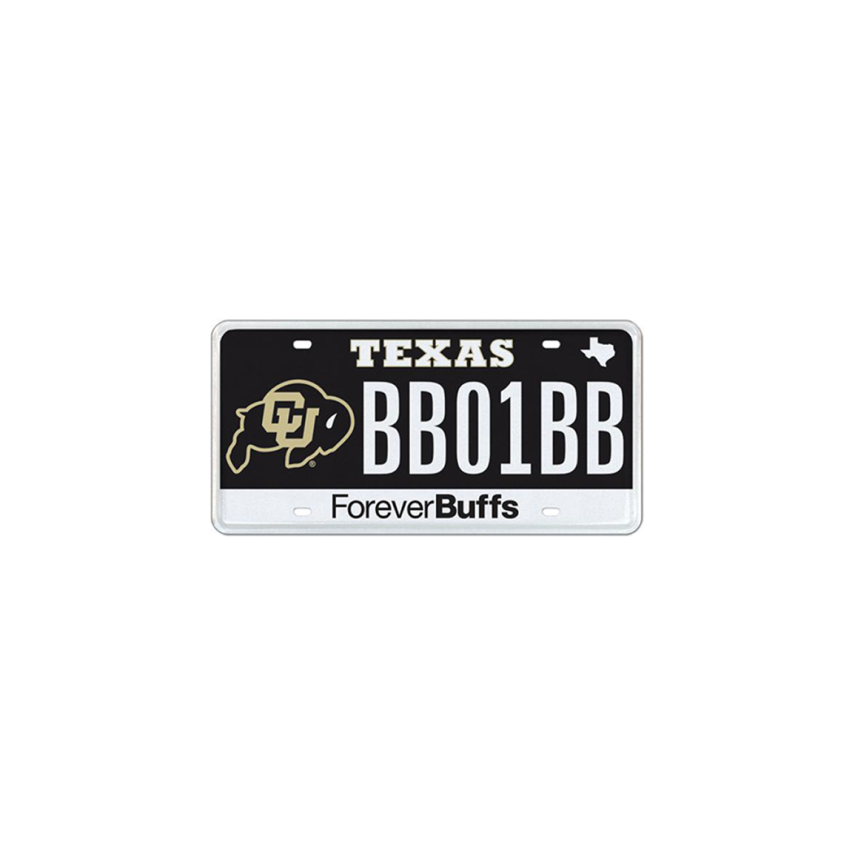 CU Boulder Texas license plate