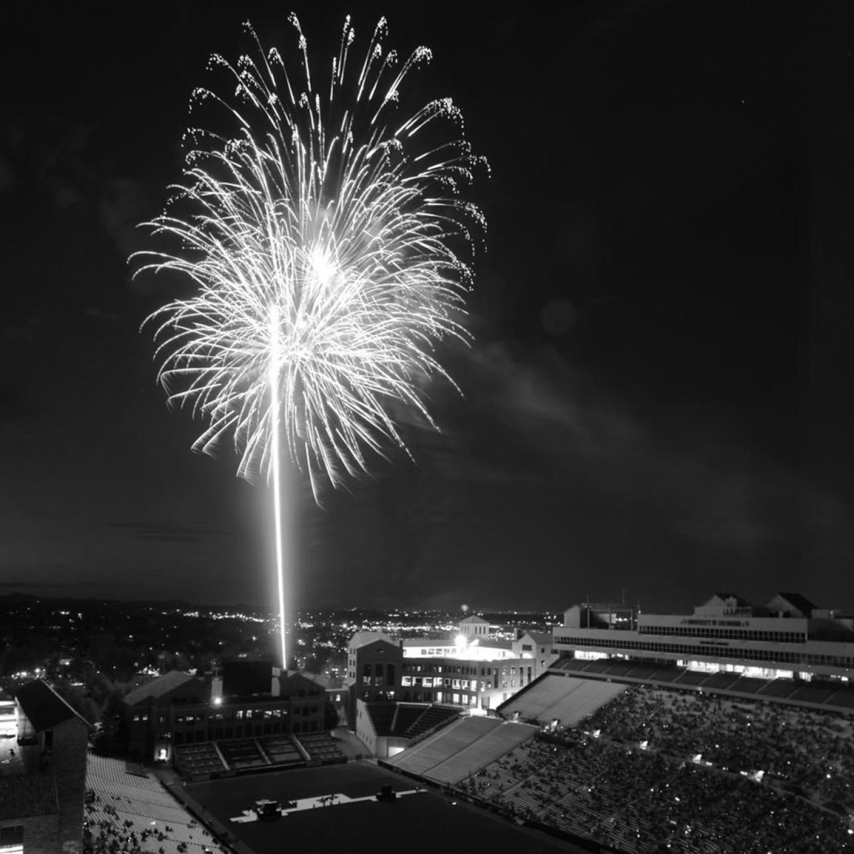Fireworks over Folsom