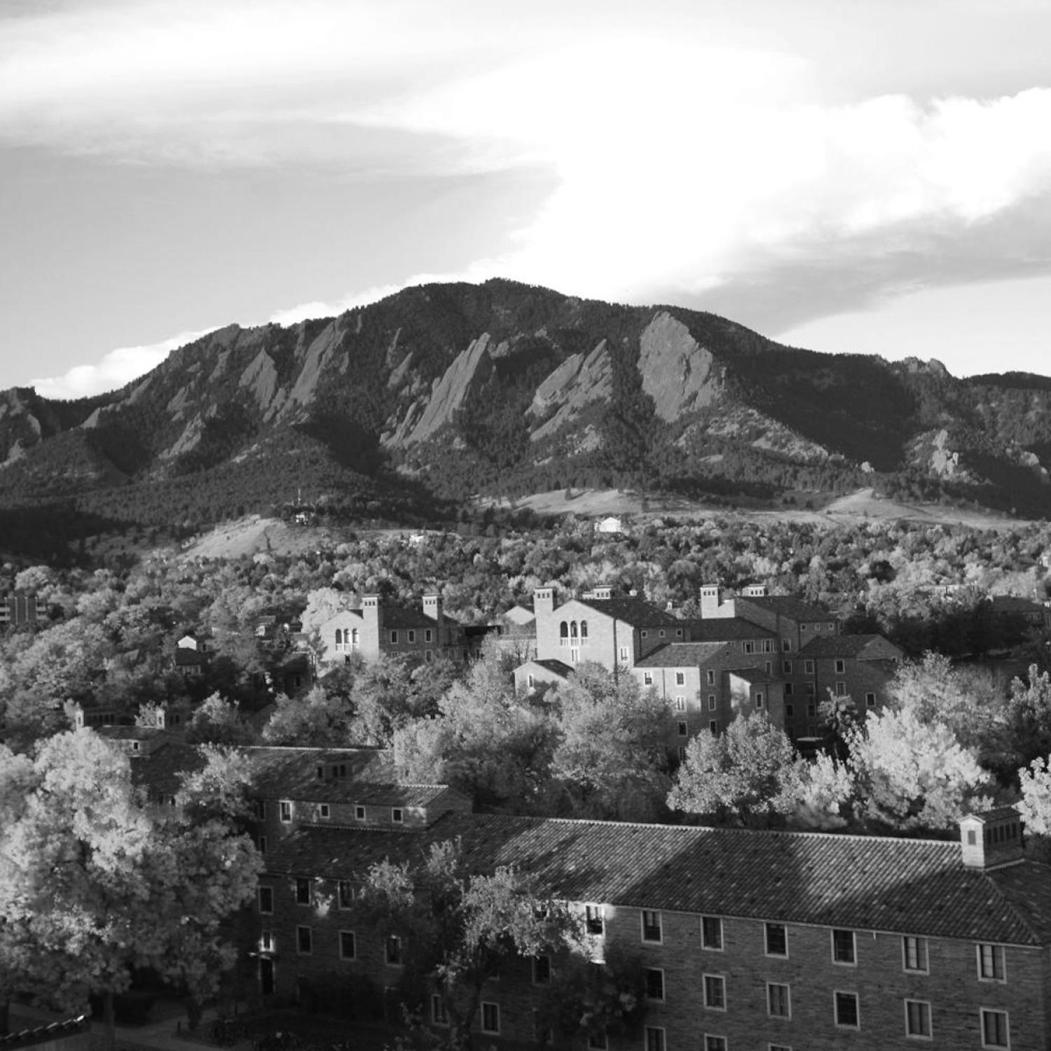 Flatirons over campus