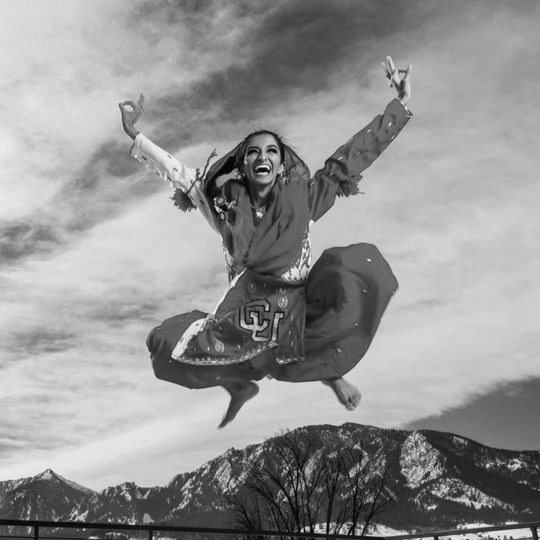 Serene Singh jumping