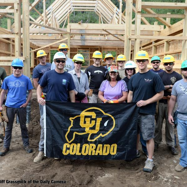 volunteers at a Buffs Give Back alumni event