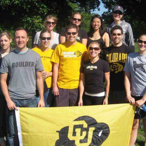 one of our CU Boulder chapters at an alumni event