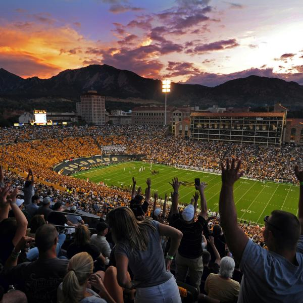 folsom field during a football game