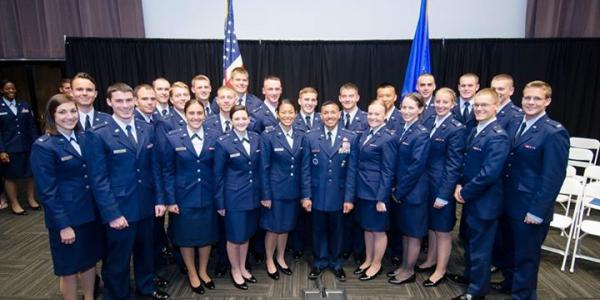 Members of Air Force ROTC Detachment 105 Alumni Association