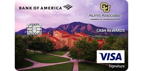 Apply for a CU Boulder Alumni Association Cash Rewards Visa Signature credit card from Bank of America