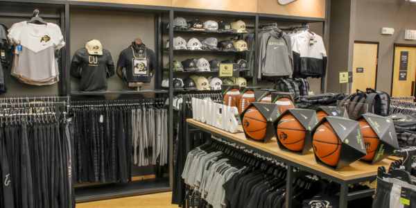 Buffs jerseys for men and women in the CU Boulder book store