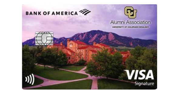 Apply for a CU Boulder Alumni Association Cash Rewards Visa Signature credit card from Bank of America