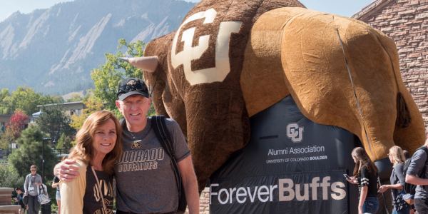 CU Boulder alumni connecting at a networking event