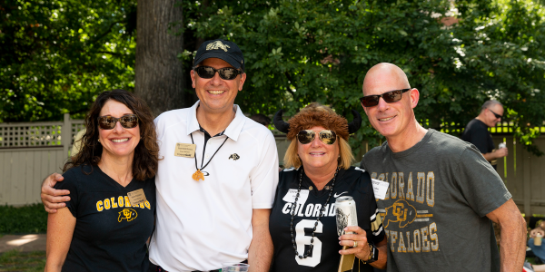 ForeverGold members at a football tailgate