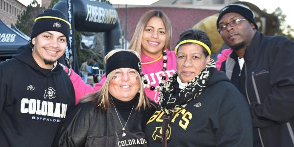 A football family at Ralphie's Corral