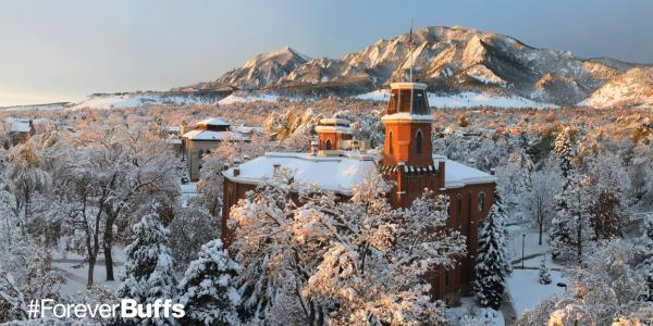 Old Main Covered in Snow