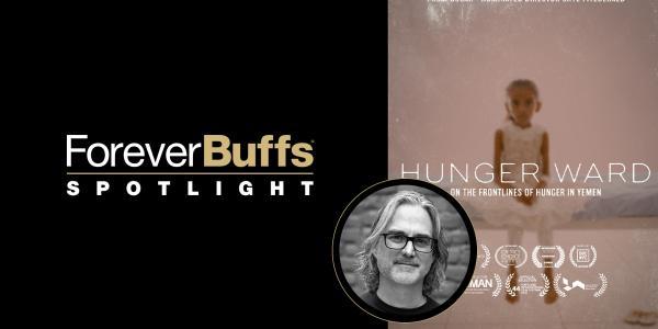 Hunger Ward documentary poster and headshot of Michael Scheuerman