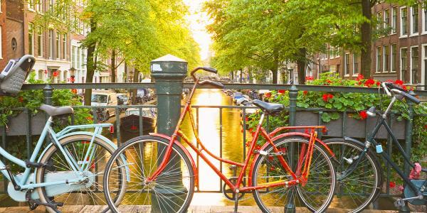 Dutch Waterways - bikes on canal