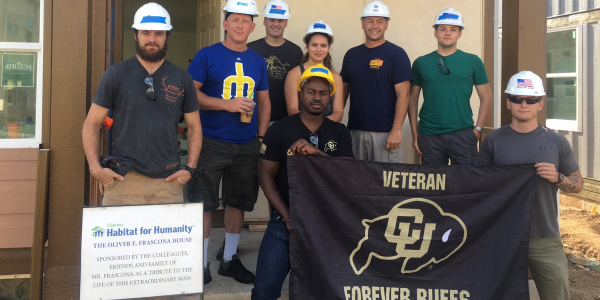 Forever Buffs volunteering with Habitat for Humanity