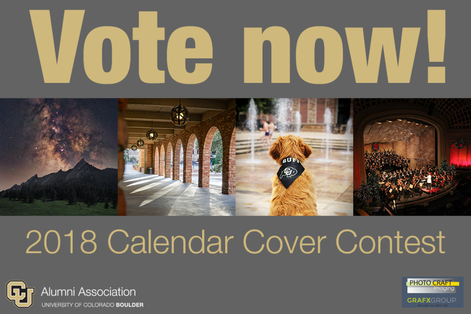 Vote for the 2018 calendar cover photo