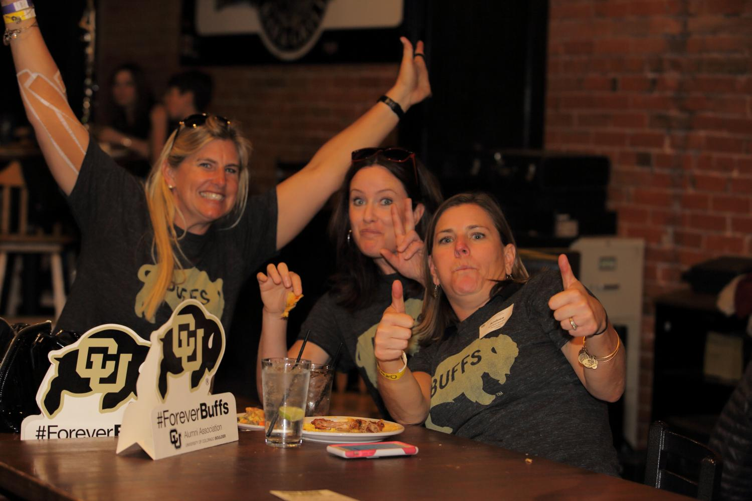 cu buff fans at a watch party