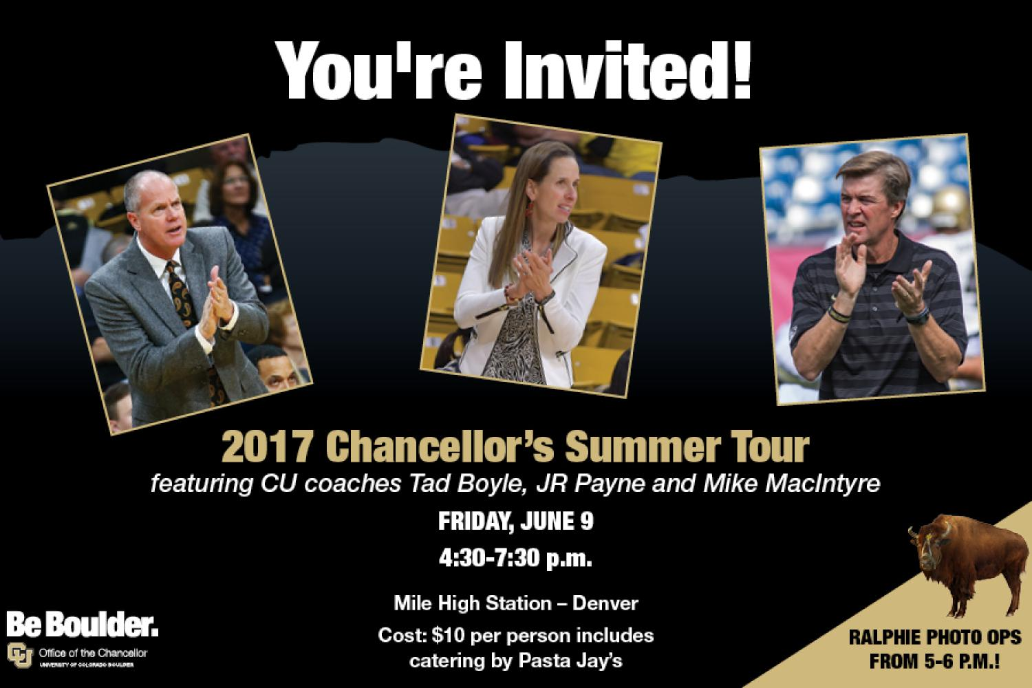 Chancellor's Tour is coming to Denver!