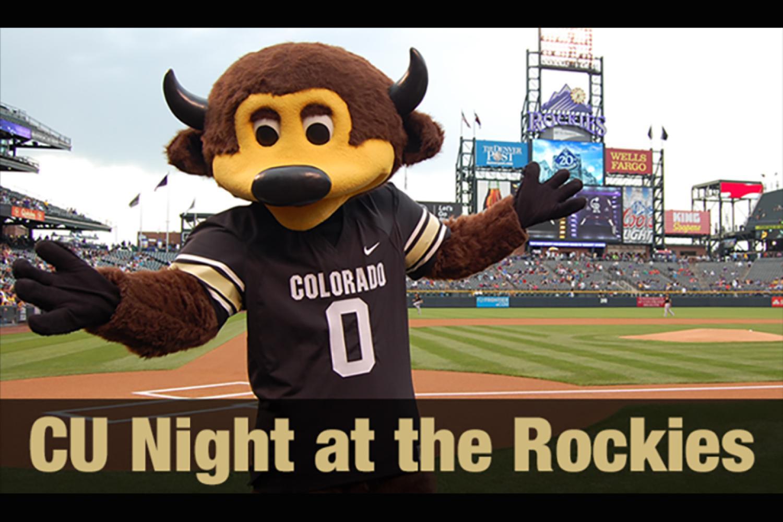 CU boulder Night at the Rockies