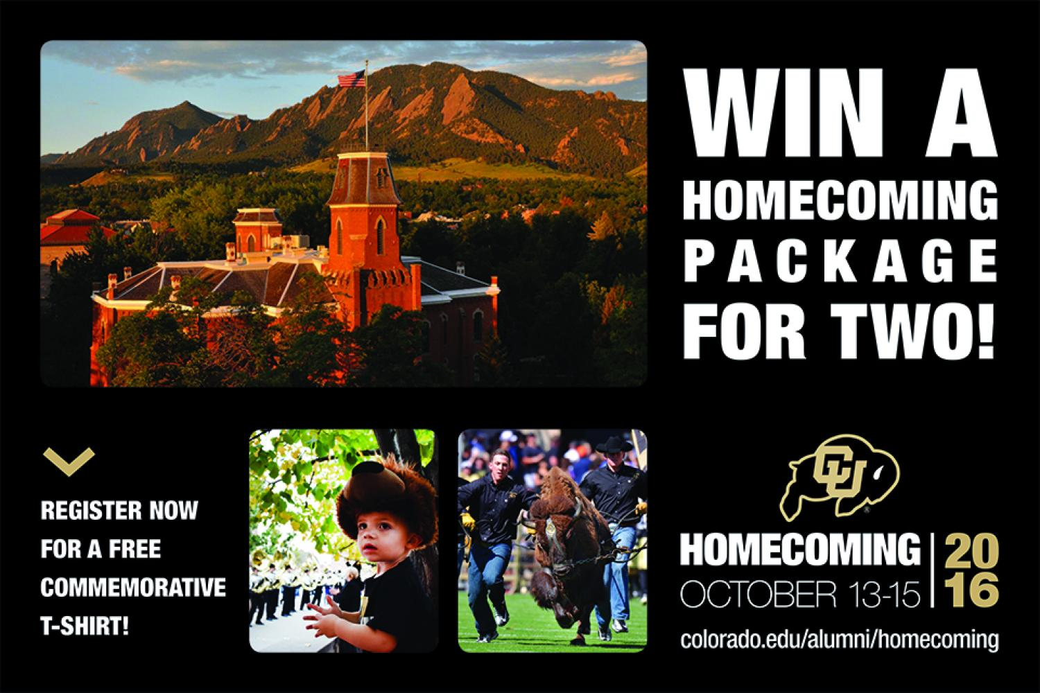 Register to win Homecoming Package for Two!