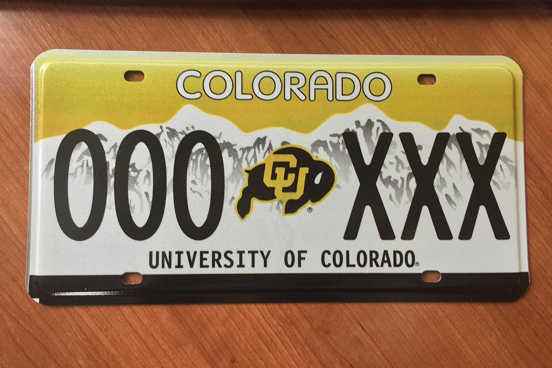 Cu license plate