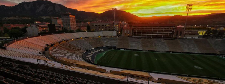 sunset over folsom field