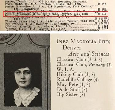 Inez Magnolia Pitts Yearbook