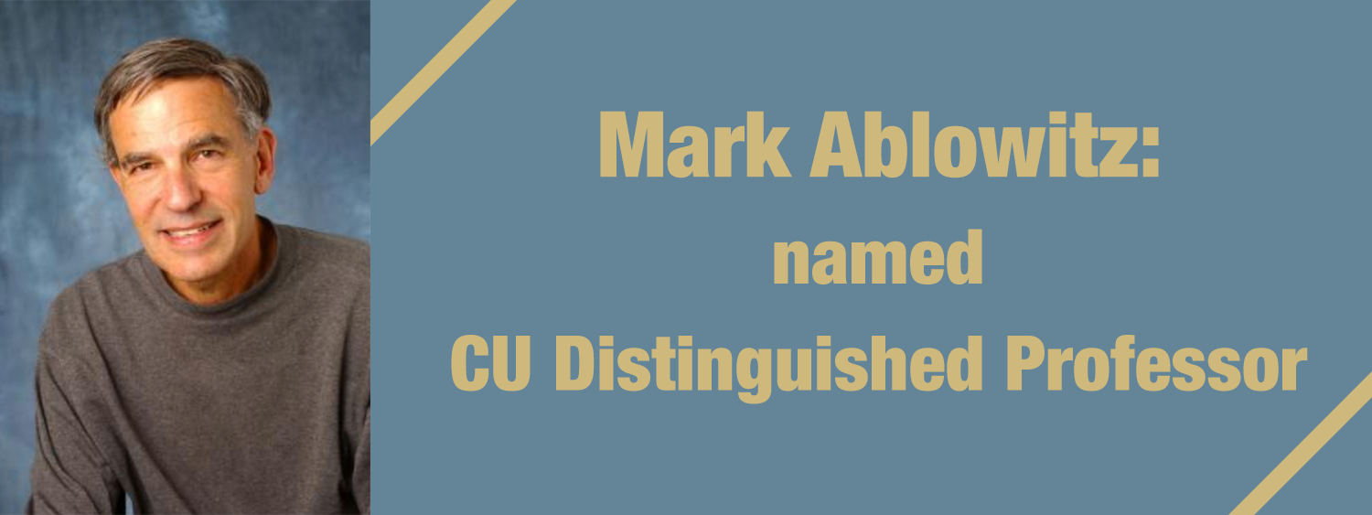 Distinguished Professor Mark Ablowitz