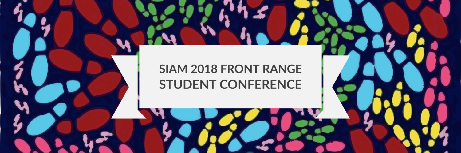 SIAM 2018 Front Range Student Conference Banner