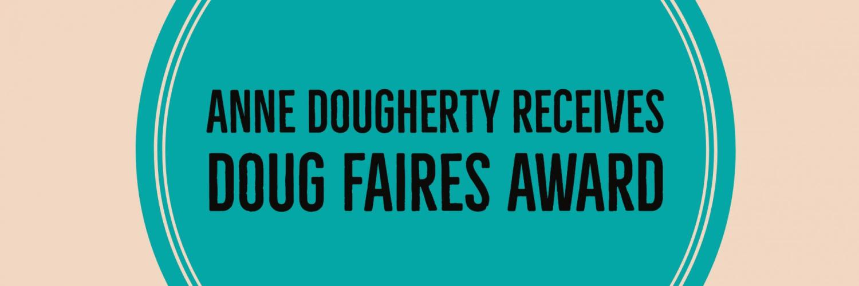 Anne receives Doug Faires Award