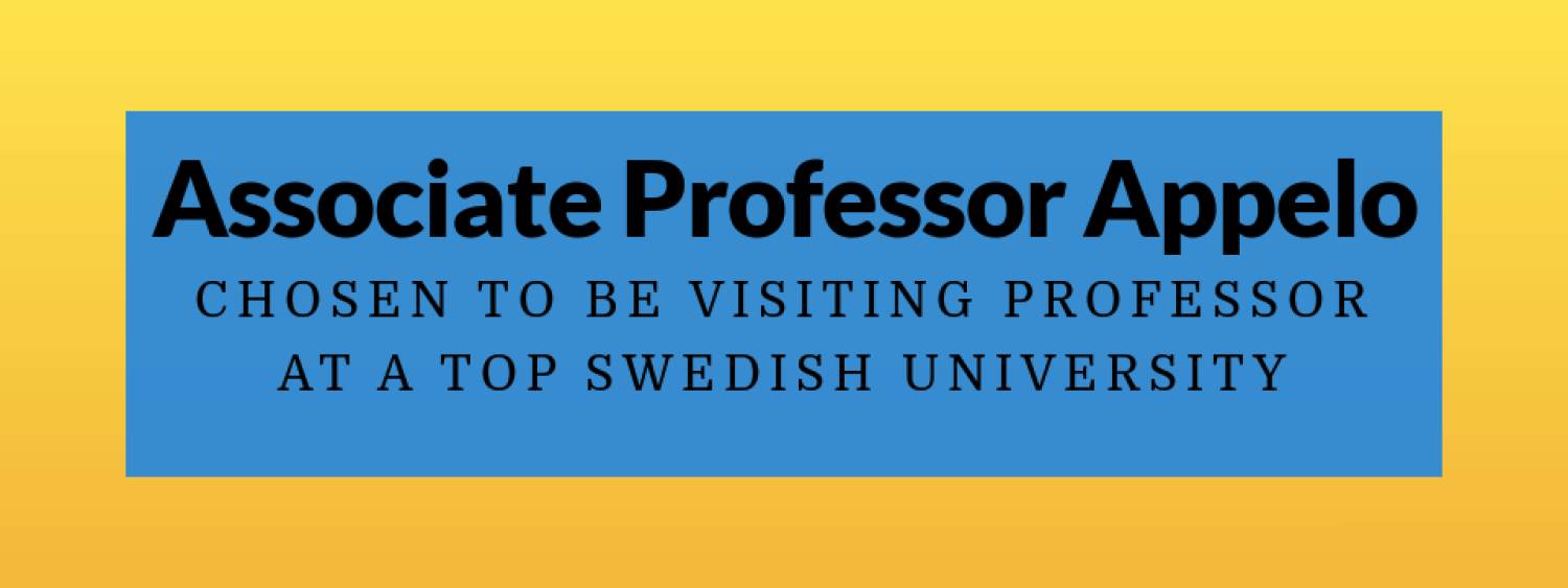 Appelo chosen to be visiting professor in Sweden