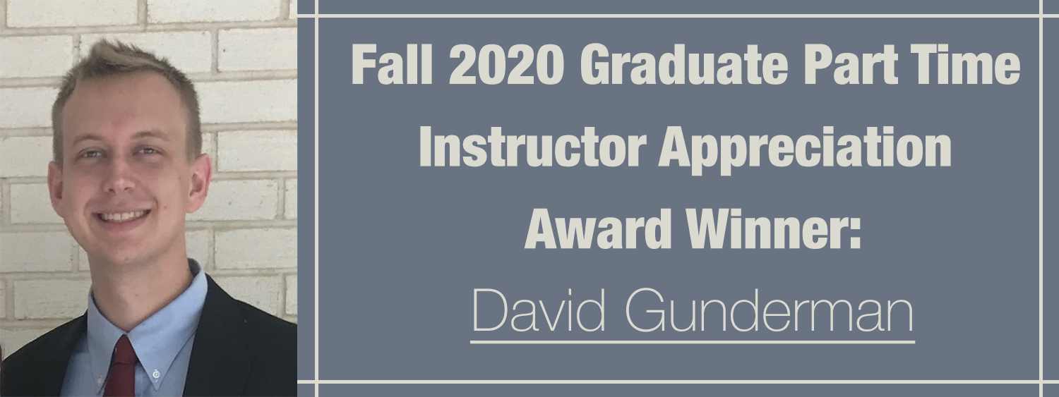 Fall 2020 Graduate Part-Time Instructor Award