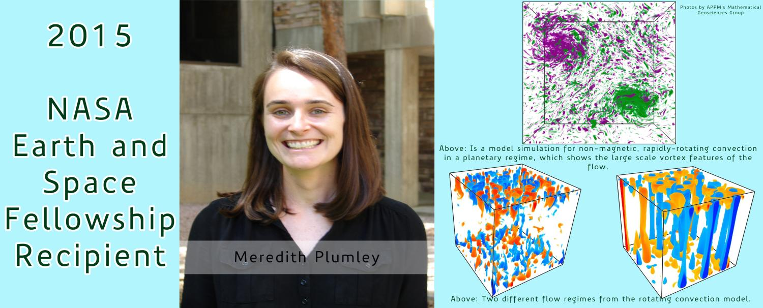Meredith Plumley Awarded 2015 NASA Earth and Space Science Fellowship