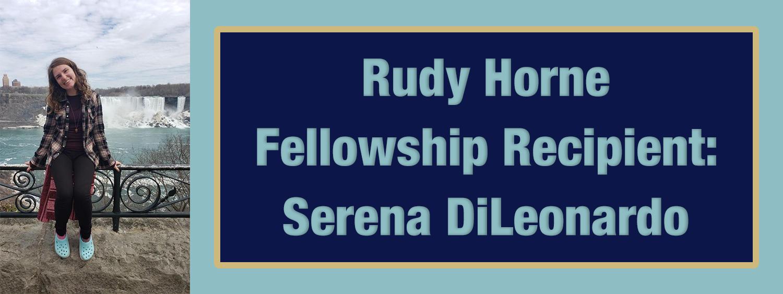 2020 Rudy Horne Fellowship Announcement