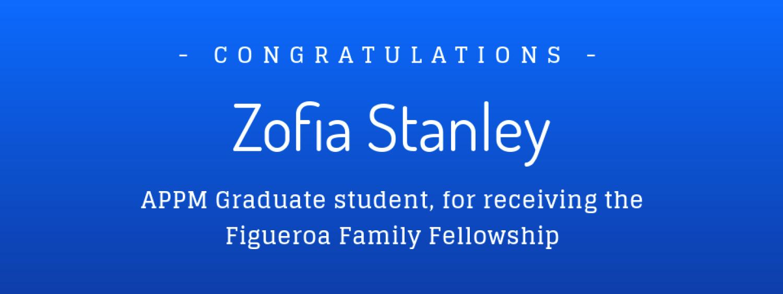 Graduate student awarded Figueroa Family Fellowship