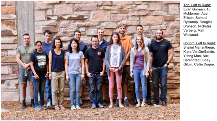 Group photo of Fall 2018 first-year Applied Math Graduate students