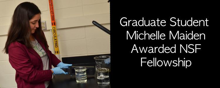 Michelle Maiden Awarded NSF Fellowship