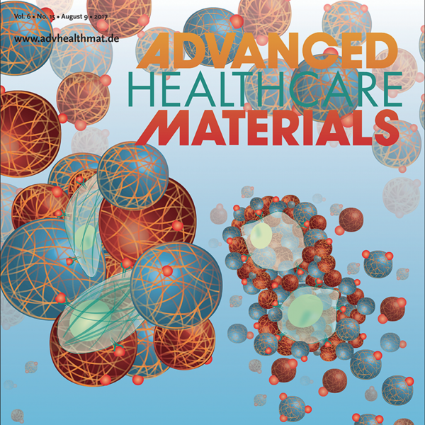 """Back Cover: A.S. Caldwell, G.T. Campbell, K.M.T. Shekiro, and K.S. Anseth """"Cell Culture: Clickable Microgel Scaffolds as Platforms for 3D Cell Encapsulation"""" Advanced Healthcare Materials, 6 (15), (2017)."""