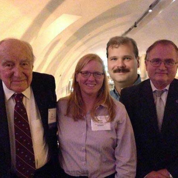 Academic Anseth family tree. Ed Merrill, Kristi Anseth, Chris Bowman, and Nicholas Peppas.