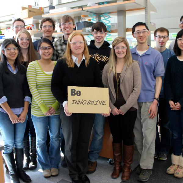 Anseth Group picture from CU Engineering holiday shoot