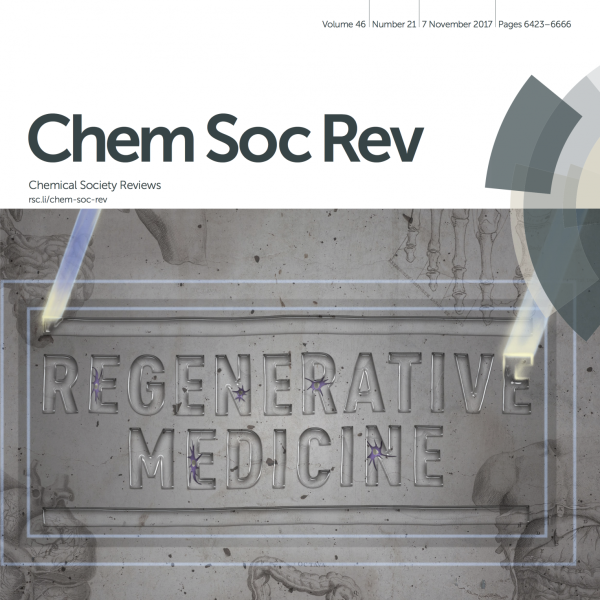 """Inside Front Cover: T.E. Brown and K.S. Anseth, """"Spatiotemporal Hydrogel Biomaterials for Regenerative Medicine,"""" Chemical Society Reviews, 2017, 46, 6532 - 6552."""