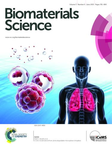 Front Cover Biomaterials Science 2015